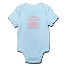 PROP YOUR TEXT PINK Infant Bodysuit