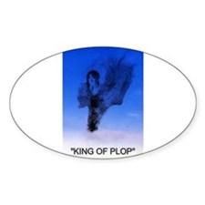 king of plop with text Sticker (Oval 10 pk)
