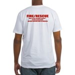 F/R Viewer discretion advised Fitted T-Shirt