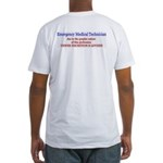 EMT viewer discretion advised Fitted T-Shirt