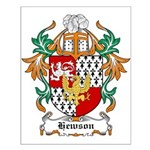 Hewson Coat of Arms Small Poster