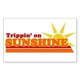 Trippin' on Sunshine Rectangle Decal