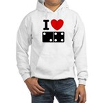 I Love Dominoes Hooded Sweatshirt