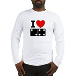 I Love Dominoes Long Sleeve T-Shirt