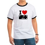 I Love Dominoes Ringer T