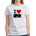 I Love Dominoes Women's T-Shirt