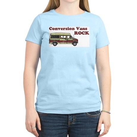 Conversion Vans Rock Women's Pink T-Shirt