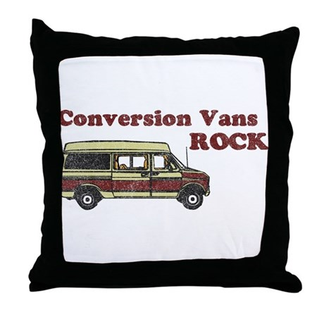 Conversion Vans Rock Throw Pillow