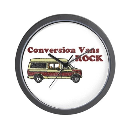 Conversion Vans Rock Wall Clock