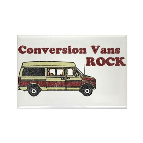 Conversion Vans Rock Rectangle Magnet
