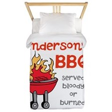 Personalized BBQ Twin Duvet
