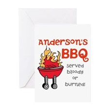 Personalized BBQ Greeting Card