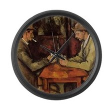 Paul Cezanne Card Players Large Wall Clock