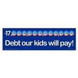 +$16,000,000,000,000 debt bumper sticker