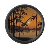 Bamboo Sunset Large Wall Clock