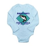 Personalized fishing Onesie Romper Suit
