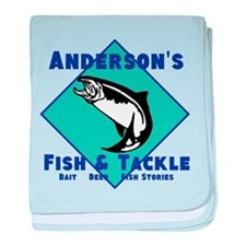 Personalized fishing baby blanket