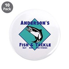 """Personalized fishing 3.5"""" Button (10 pack)"""