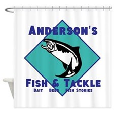 Personalized fishing Shower Curtain