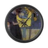 Gustav Klimt Music Large Wall Clock