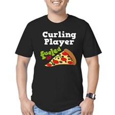 Curling Player Pizza T