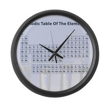 Periodic Table Large Wall Clock