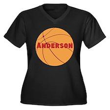 Personalized Basketball. Women's Plus Size V-Neck