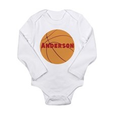 Personalized Basketball. Long Sleeve Infant Bodysu