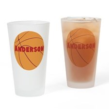 Personalized Basketball. Drinking Glass