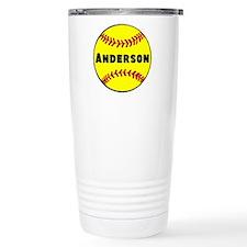 Personalized Softball Travel Mug