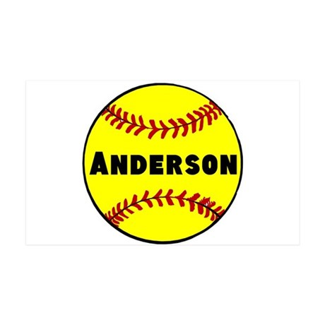 Personalized Softball 35x21 Wall Decal