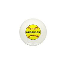 Personalized Softball Mini Button (10 pack)