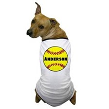 Personalized Softball Dog T-Shirt