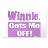 Winnie's Gets Me Off Decal