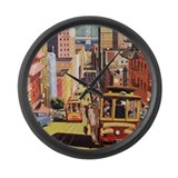 Vintage San Francisco Large Wall Clock