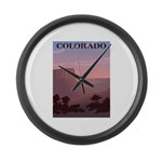Colorado Sunset Large Wall Clock