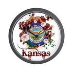 Butterfly Kansas Wall Clock