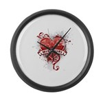 Heart Missouri Large Wall Clock