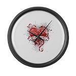 Heart Missouri Large Wall Clock