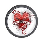 Heart Missouri Wall Clock