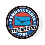 Pennsylvania Statehood Wall Clock