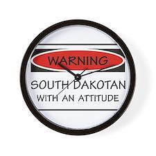 Attitude South Dakotan Wall Clock