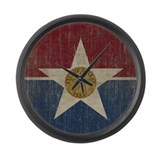 Texas flag Wall Clocks
