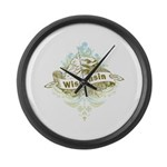 Eagle Wisconsin Large Wall Clock