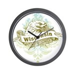 Eagle Wisconsin Wall Clock