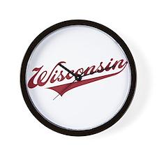 Retro Wisconsin Wall Clock