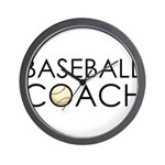 Baseball Coach Wall Clock