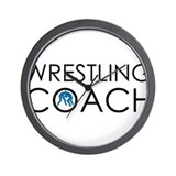 Wrestling Coach Wall Clock