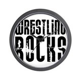 Wrestling Rocks! Wall Clock
