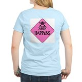 WARNING: SHIP HAPPENS Women's Pink T-Shirt